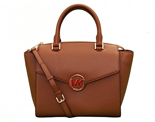 Couture Watch Brown Strap (Michael Kors Hudson Large Leather Satchel -)