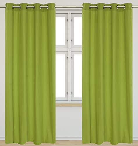 LJ Home Fashions Karma Cotton-Like Grommet Curtain Panels Set of 2 54×95-in