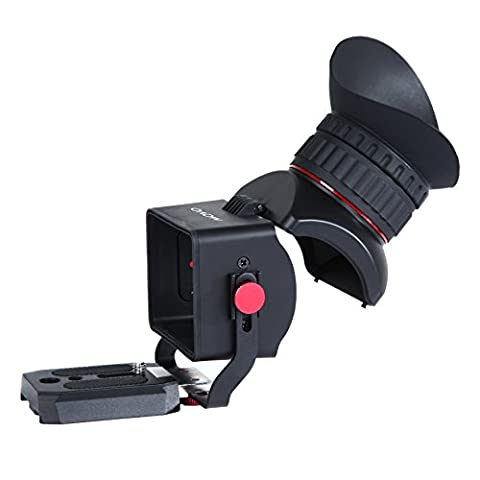 Movo Photo VF40 Universal 3X LCD Video Viewfinder with Flip-Up Eyepiece for Canon EOS, Nikon, Sony Alpha, Olympus & Pentax DSLR Cameras - Fits 3