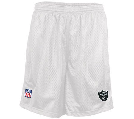 Oakland Raiders Mens Mesh NFL Shorts WHITE-MEDIUM by Reebok