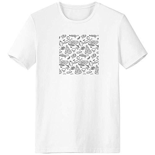DIYthinker Cheese Mushroom Pizza Foods Crew Neck White T-Shirt Short Sleeve Comfort Sports T-Shirts Gift
