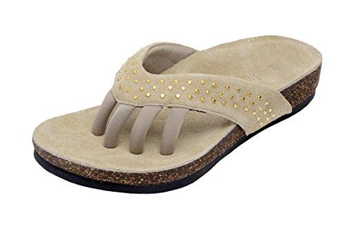 Wellrox Women's Santa Fee-Mila Pale Khaki Casual Sandal 9