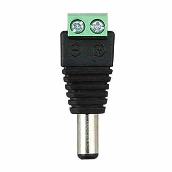 Color : Female Connector 2.1mm DC Power Maschio Femmina Connettore Adattatore Jack per CCTV LED 5050 3528 5630 Strip Light BASDW BASDW 5.5