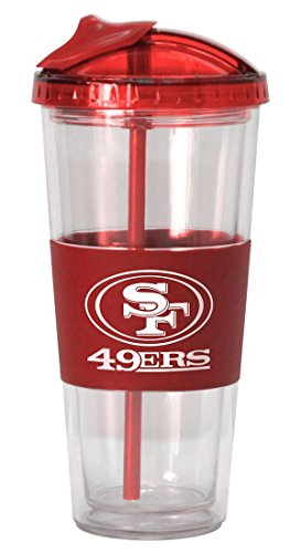 NFL San Francisco 49ers No Spill Straw Tumbler, - Of Mall Francisco San