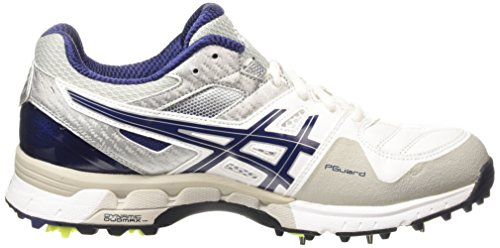 ASICS - Gel-220 Not Out, Zapatos de Cricket hombre Blanco (white/indigo Blue/silver 0149)