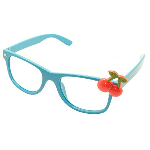 FancyG Cute Kids Red Cherry Glass Frame Kid Size NO LENS - - Frames Only Sunglass Prescription