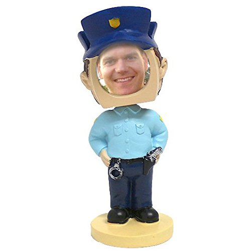 Policeman Photo Bobblehead Figure