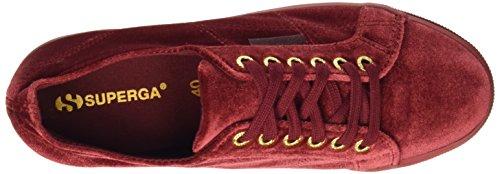 Superga 2790-Plus Velvetw - Zapatillas de Terciopelo para mujer , color Rojo - Xeq Bordeaux Wine