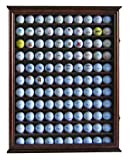 110 Golf Ball Display Case Wall Cabinet Holder, Solid Wood WALNUT Finish GB05-WALN