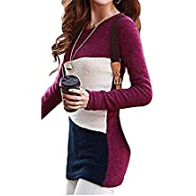 B dressy Women's Stylish Slim Fit Long Thin Pullover Dress Wool Blends Sweater SW112