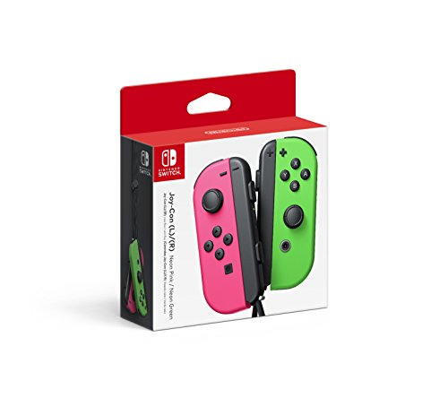 Nintendo SWITCH CONTROLLERS NEON PINK/NEON GREEN NINTEN - Left and Right Edition