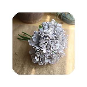 Artificial Flower 5 Heads Peony Bunch Wholesale Wedding Bridal Bouquet DIY Home Decoration,Blue 61