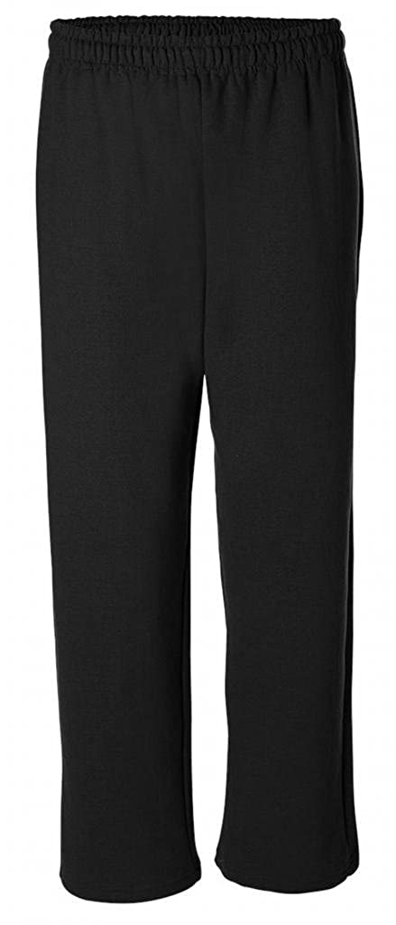 Yoga Clothing For You Mens Yoga Open Bottom Sweatpants 18400-BLK