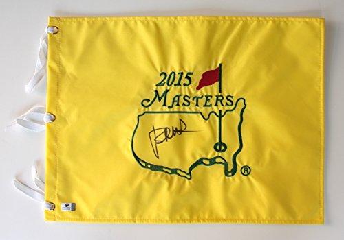 Jordan Spieth Signed Autographed 2015 Masters Golf Pin Flag COA