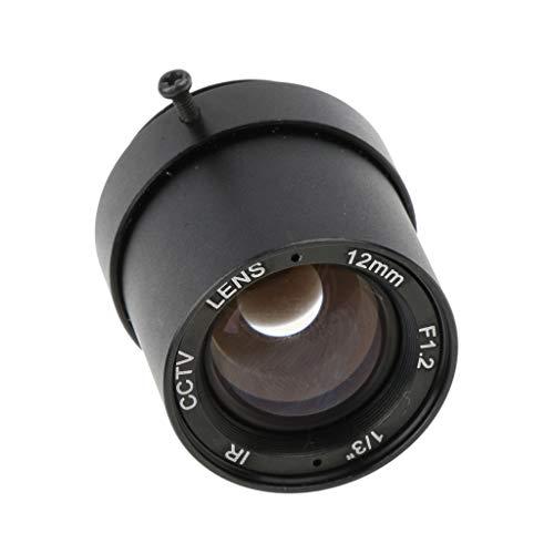 (Baosity 1/3'' 12mm F1.2 1MP CS Mount Fixed IRIS CCTV Lens for CCD Camera )