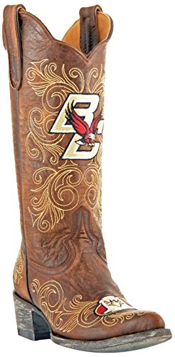 Gameday Boots NCAA Ladies 13 inch University Boot Boston College Eagles, 9.5 B (M) US, Brass by GAMEDAY BOOTS