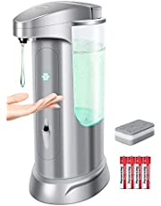 Andplay Touchless Soap Dispenser,370ml/12.5oz Battery Operated Electric Adjustable Switches Infrared Motion Sensor,Suitable for Bathroom Kitchen Home