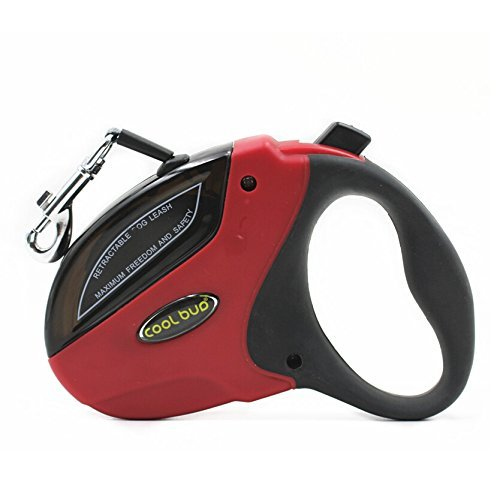 Best Retractable Dog Leash Nylon Ribbon 16 Foot Heavy Duty Tangle Free Pet Lead Great Hand Grip, One Button Brake & Lock for Small & Medium Large Dogs up to 110lbs by Chety Miss - Paws Nylon Leash