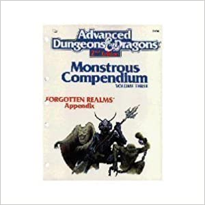 Book Monstrous Compendium: Forgotten Realms Appendix (Advanced Dungeons & Dragons/Tsr 2104) by Tsr (1989-12-03)