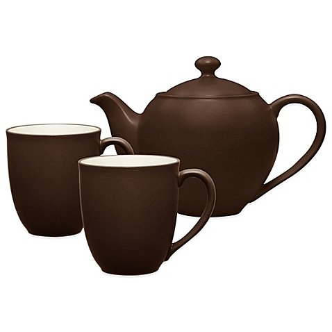 - Noritake Colorwave 3-Piece Tea-for-2 Set in Chocolate