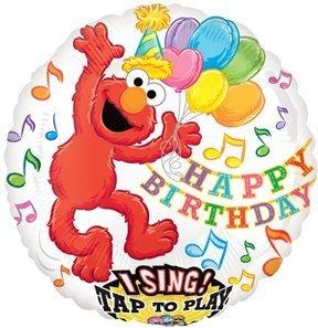 - ELMO Sesame STREET Happy Birthday Party SING Singing Sing-A-Tune Mylar Balloon by Lgp