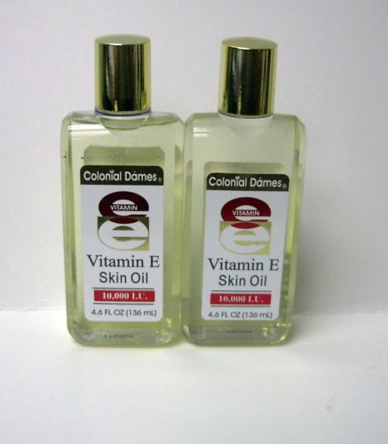 Vitamin E Skin Oil 10000 IU. 4.6 Oz Pack of 2 – Total 9.2 oz
