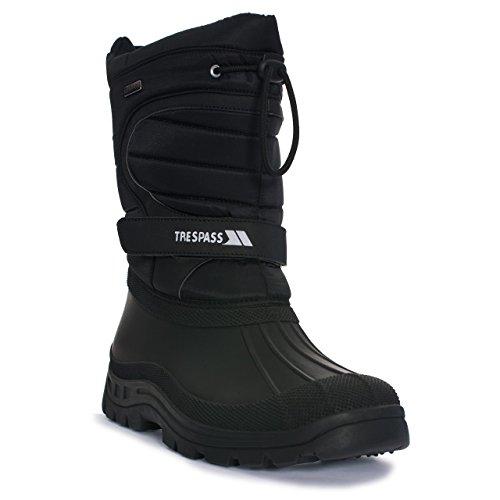 Trespass - Botas de nieve invierno sin cordones Modelo Dodo Hombres Negro