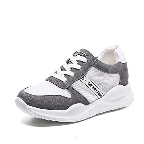 JRenok Zapatillas de Deporte Mujer gris
