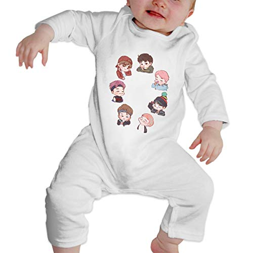 Baby Crew Neck Long Sleeve Solid Color Romper Crawling Clothes
