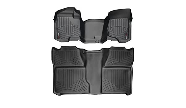 WeatherTech Custom Fit Rear FloorLiner for Chevrolet Silverado Crew Cab 2500HD//3500HD Grey