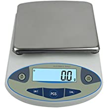 Large Range Lab Digital Precision Analytical Electronic Balance Lab Scale Precision Jewelry Scales Kitchen Precision Weighing Electronic Scale 0.1g Calibrated & Ready Pan Size: 180 140mm (10kg, 0.1g)