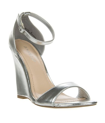 425f3179855c Gorgy01 Silver Classic Wedge Dress Sandal Toe Strap Ankle Strap Women  Bamboo Shoe-6 - Buy Online in Oman.