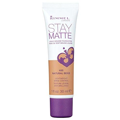 The Natural Matte Foundation (Rimmel Stay Matte Foundation, Natural Beige, 1 Fluid Ounce)