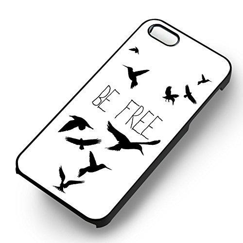 Be Free Birds pour Coque Iphone 6 et Coque Iphone 6s Case (Noir Boîtier en plastique dur) L2K5RT