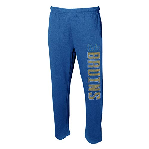 Concepts Sport Men's NCAA -Squeeze Play- Terry Cloth Sleepwear Pajama Pants-Heathered (UCLA Bruins, X-Large) (Bruins Ucla Drawstring Ncaa)