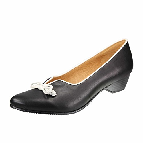 ShangYi Frauen-Multi-Color-Kunstleder Chunky Heel Tanzschuhe mit Schnalle Modern / Ballroom Heels  black and...