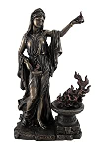 Amazon.com: Veronese Design Greek Goddess Hestia Bronzed ...