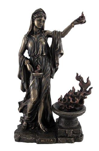 Greek Goddess Hestia Bronzed Statue Roman Vesta