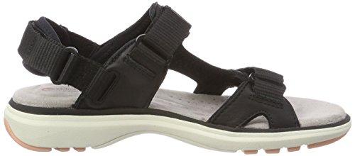 black Step Sandali Un Con Caviglia Alla Clarks Leather Cinturino Nero Donna Roam ZFUZx