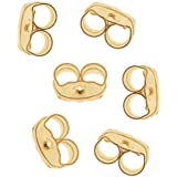 FilledEarringBacksEarNuts,14KGold,Pairof3
