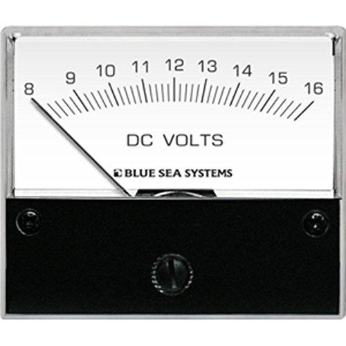 Blue Sea 8003 DC Analog Voltmeter - 2-3/4 Face, 8-16 Volts DC - 1 Year Direct Manufacturer (Blue Sea 8003 Voltmeter)