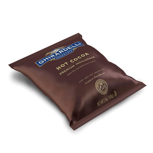 Ghirardelli Chocolate Premium Hot Cocoa, Double Chocolate, 0.85-Ounce Packets...