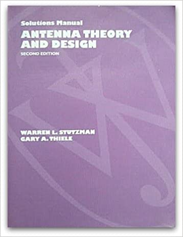 Antenna theory and design solutions manual warren l stutzman antenna theory and design solutions manual 2nd edition fandeluxe Image collections