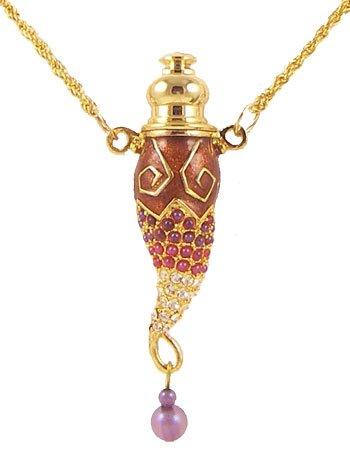 Hidden Accent Treasures - Hidden Treasure Perfume Necklace (Red)