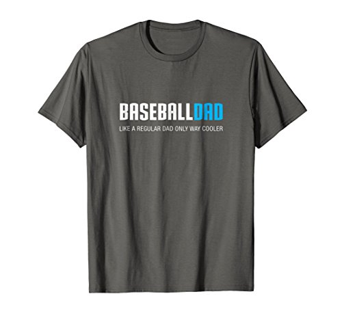 Mens Baseball Dad Shirt, Funny Cute Father's Day Gift XL Asphalt