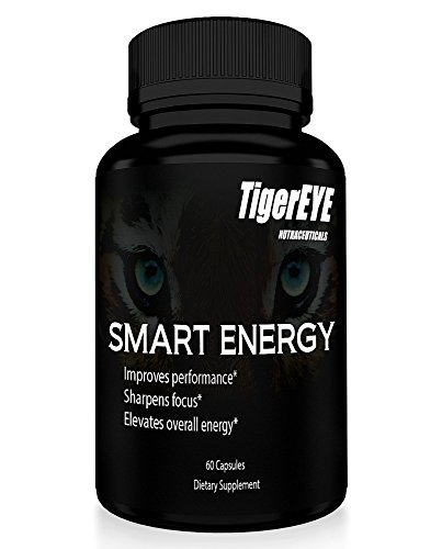 (Smart Energy: Caffeine with L-Theanine for Powerful Energy, Focus, Clarity- #1 Ranked Cognitive Performance Stack- Proven No Crash or Jitters-All Natural- Caffeine 100mg, L-Theanine 200mg)