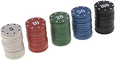 non-brand 100 Piezas Poker Chips Fichas de Bingo en Caja de ...
