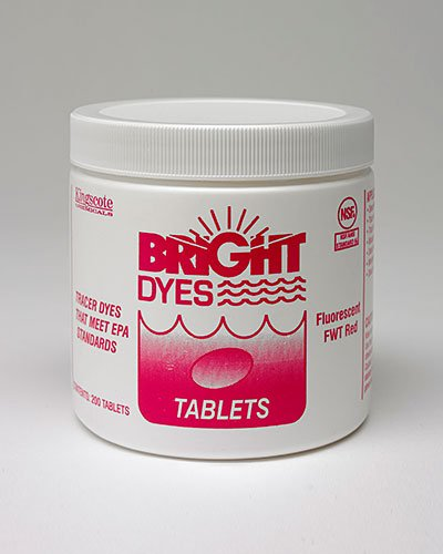 Dye Tracer Tablet, Fl Red, ()