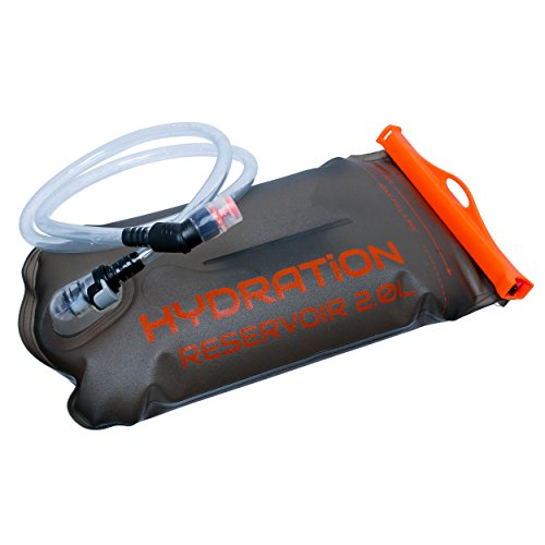 Perfect Hydration Bladder - Leakproof Water Bag, No Plastic Taste, FDA Approved, BPA Free - 2L