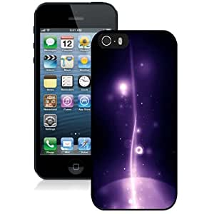 Beautiful Unique Designed Cover Case For iPhone 5S With Apple Galaxy Black Phone Case